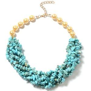 Blue Howlite Multi Gemstone Necklace